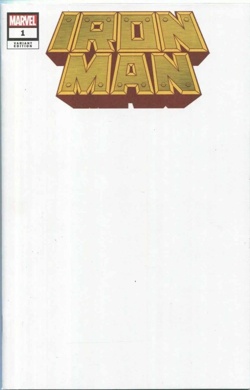 IRON MAN #1 BLANK VARIANT SKETCH