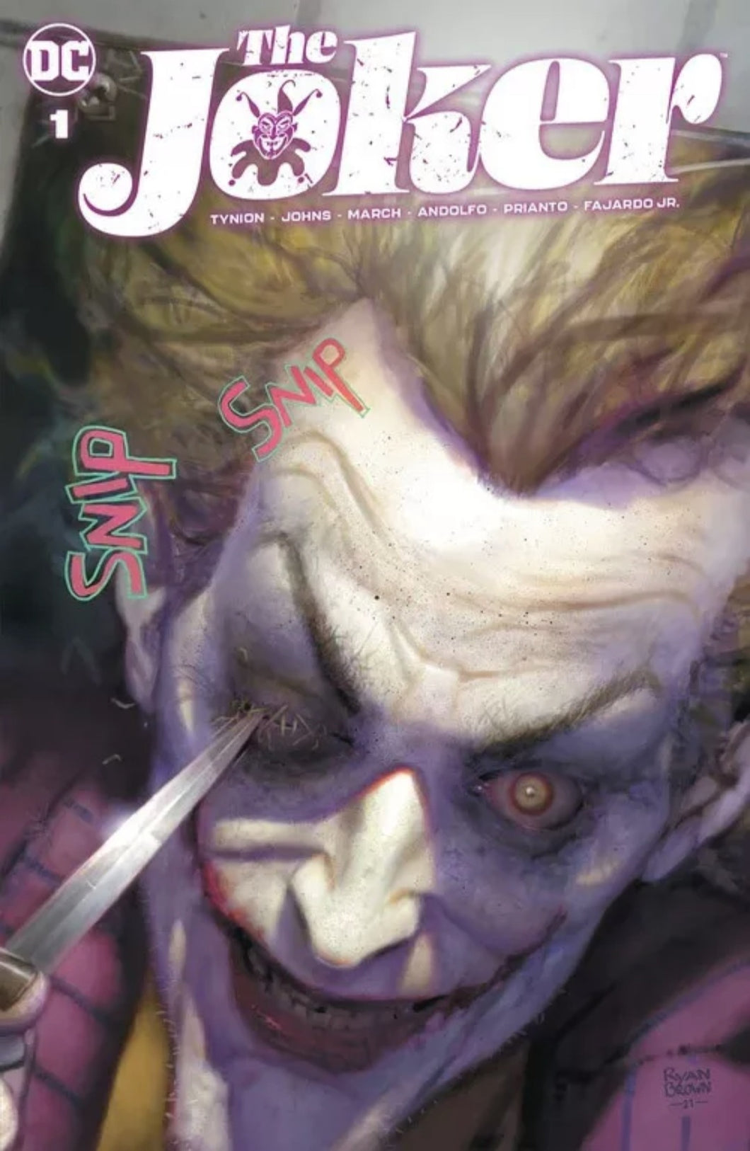 🤡 THE JOKER #1 Ryan Brown Variant DC Comics 1st Print NM LTD 3000 Bagged & Boarded