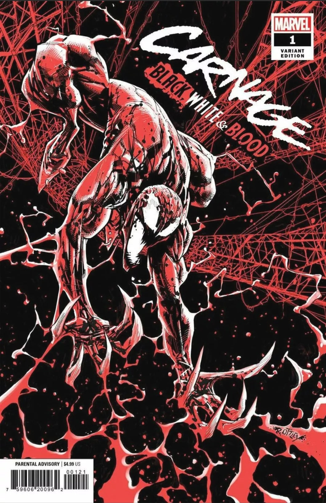 🚨🔥 CARNAGE BLACK WHITE AND BLOOD #1 OTTLEY VARIANT