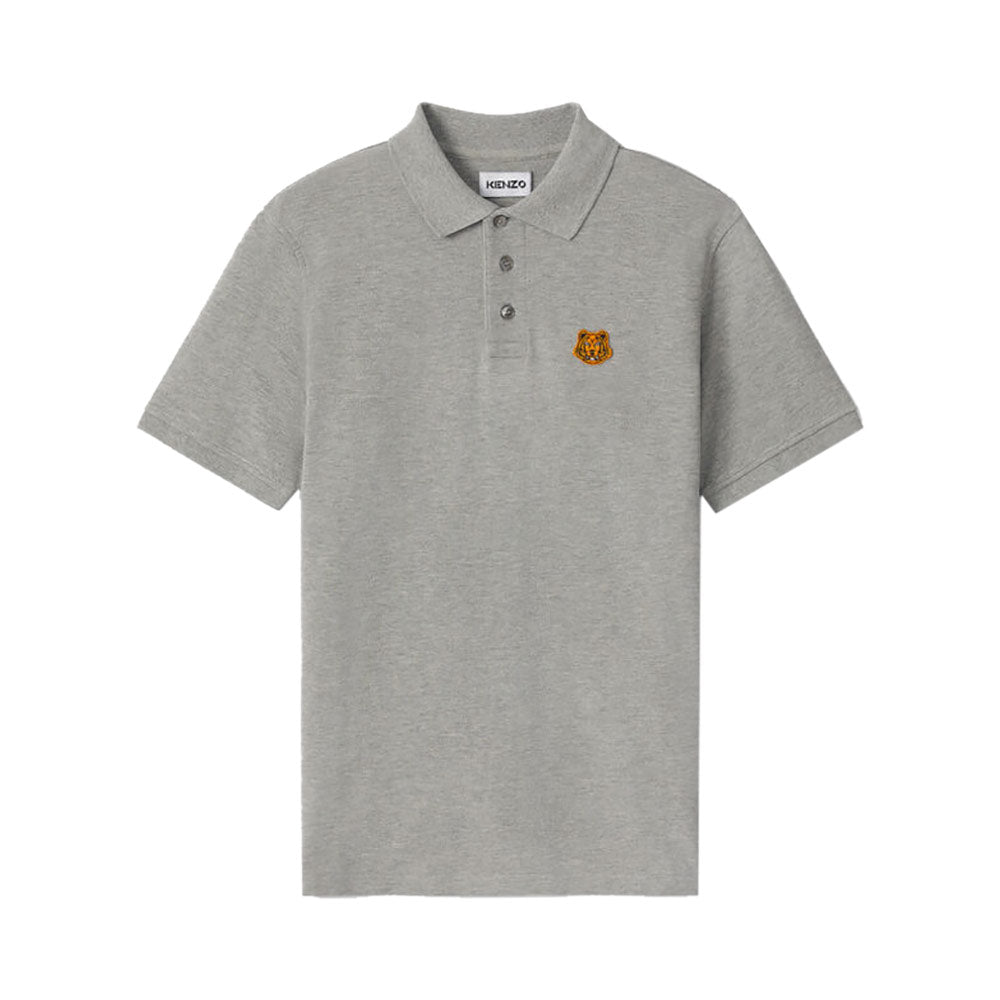 Tiger Crest Polo Pearl Grey