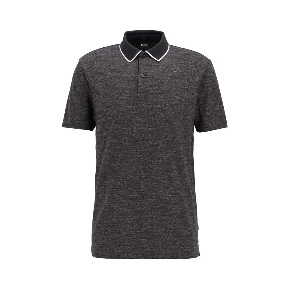 Polo Pitton 17 Slim Fit Black Charcoal