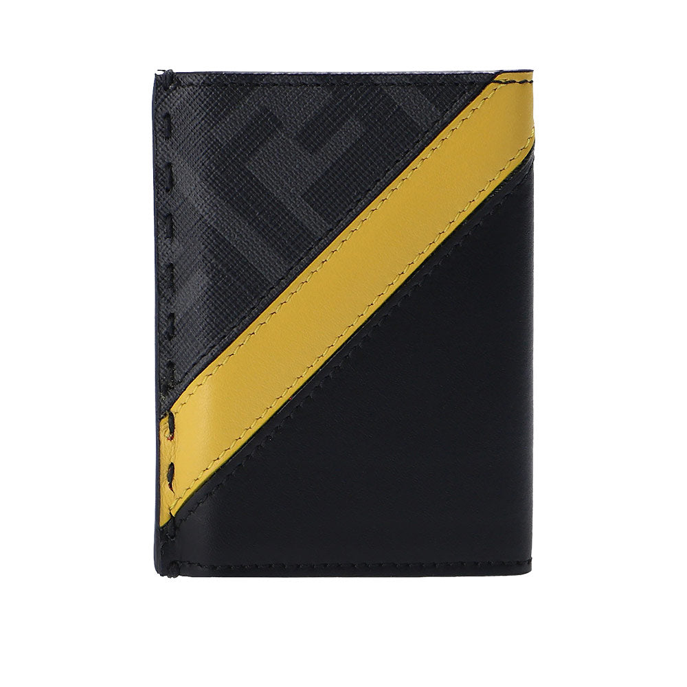 FF Stripe Card Holder Black Grey Yellow