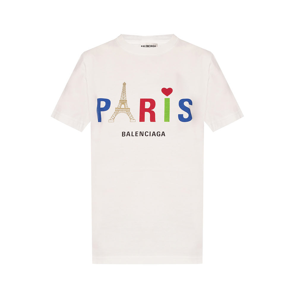 T-Shirt Paris Love White Multicolor