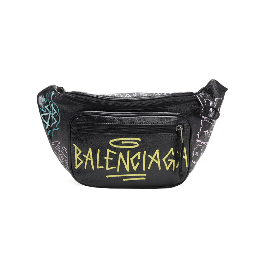 Bumbag Explorer Graffiti All Over Black
