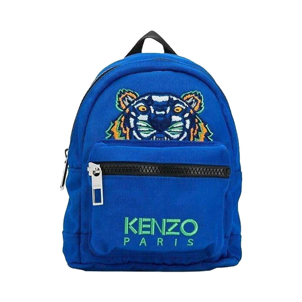 Mini Tiger Canvas Backpack in Cobalt