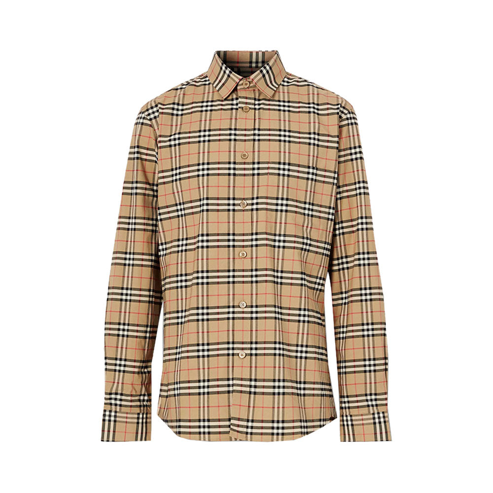 Vintage Check Long Sleeved Shirt Archive Beige Man
