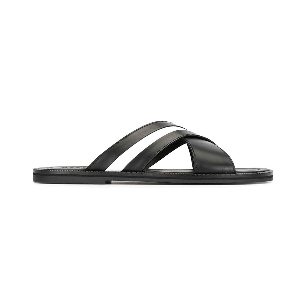 Jaabir Sandal Slide - Black White