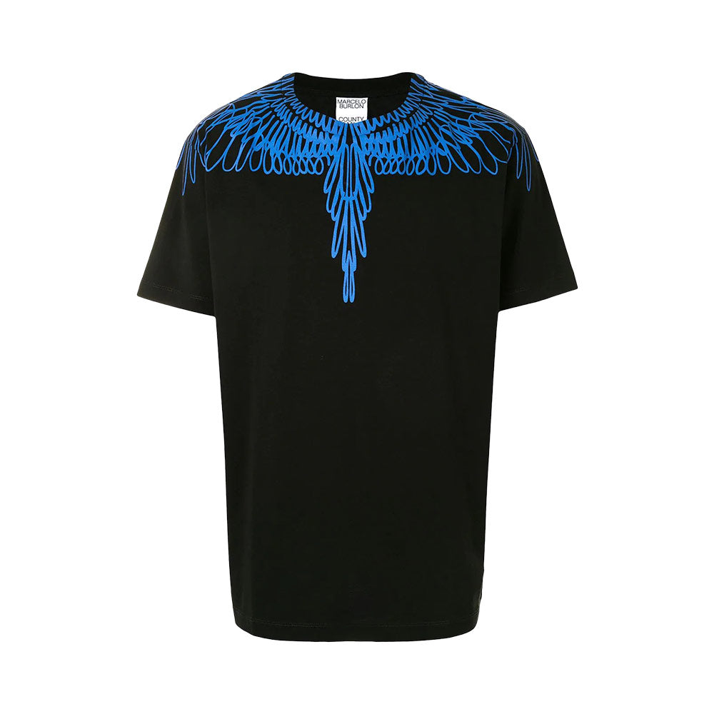 Pictorial Wings T-Shirt Man Black Blue