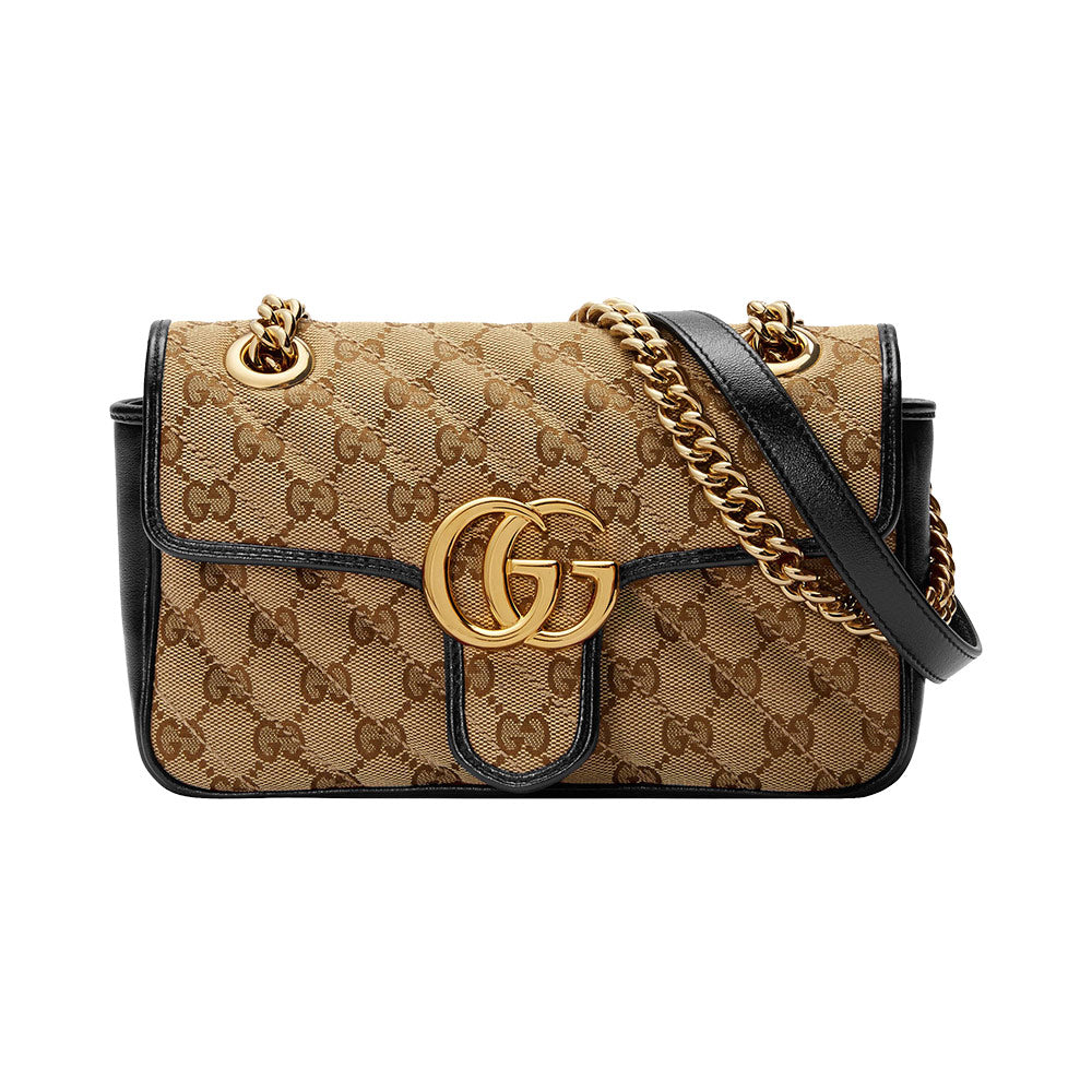GG Marmont Canvas Mini Beige Ebony Black