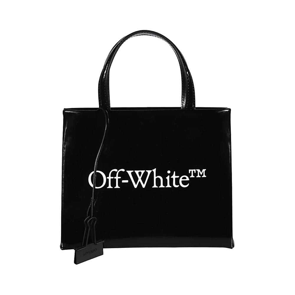 Logo Print Mini Tote Black
