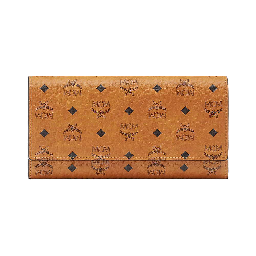 Three Fold Long Wallet Cognac