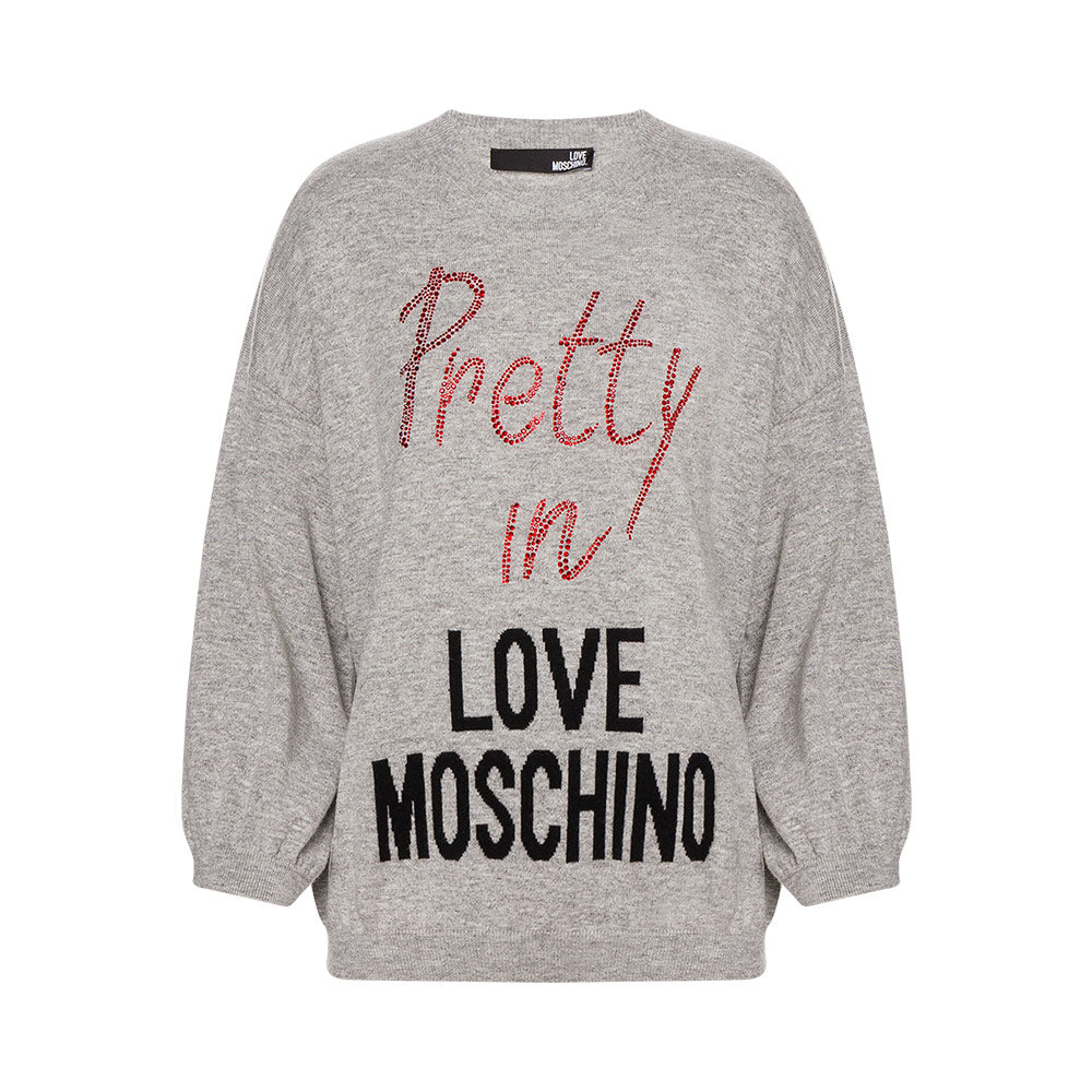 Love Moschino Pretty In Jumper Grey