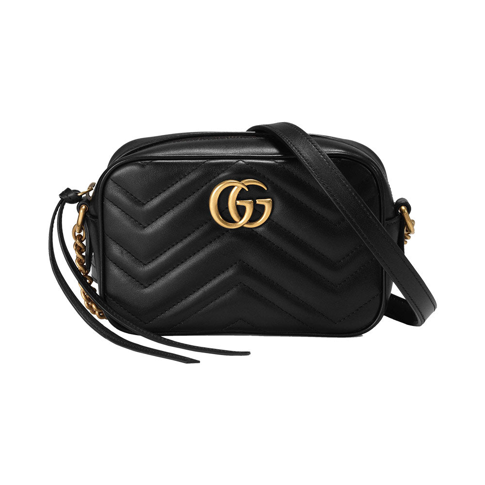 GG Marmont Camera Bag Mini Black Ghw