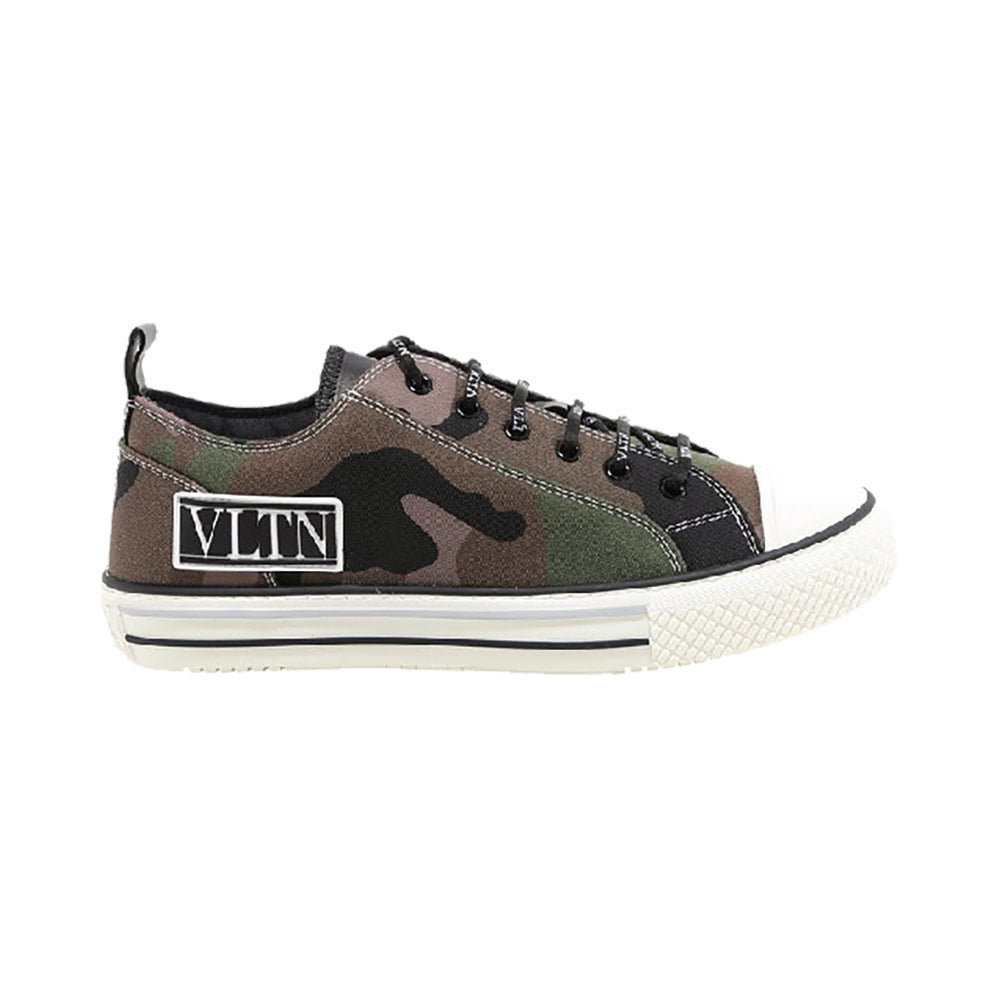 VLTN Giggies Camouflage Low Top Sneakers Green Army