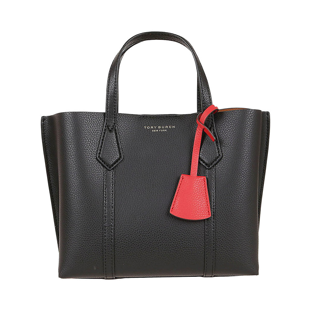 Perry Small Triple Compartment Tote Black