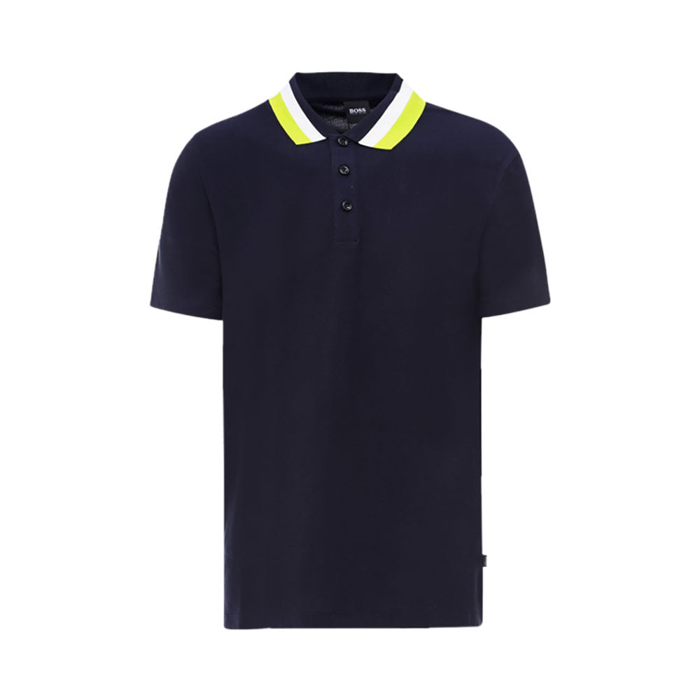 Polo Colour-Block Collar Blue Season