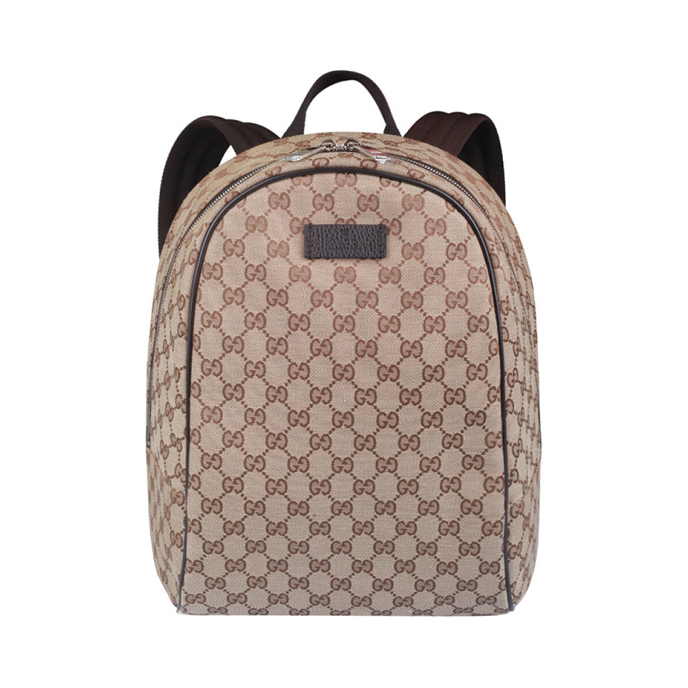 Backpack GG Monogram Beige Brown