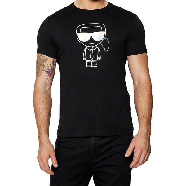 T-Shirt Ikonik Silver Outline - Black Man