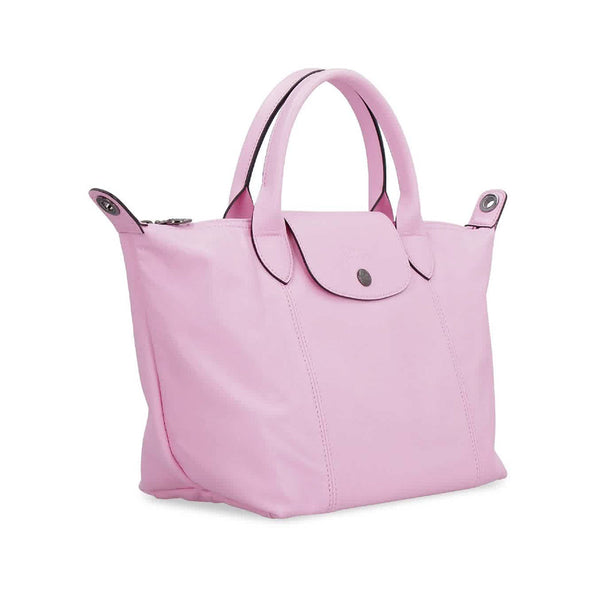 Le Pliage Cuir Top Handle Small Antique Pink