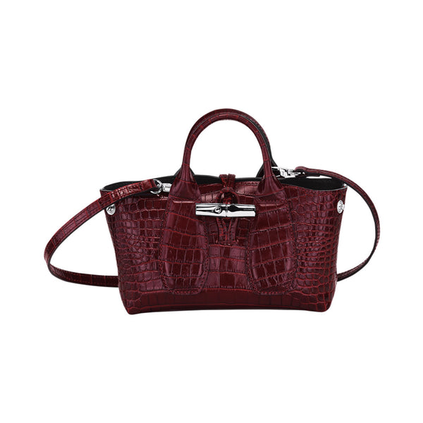 Roseau XS Top Handle Bag Burgundy