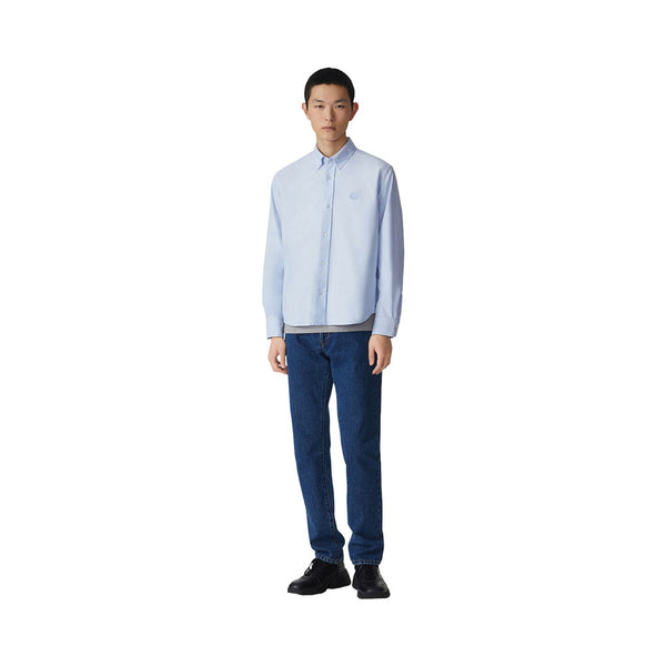 Tiger Crest Casual Long Sleeved Shirt Light Blue Man