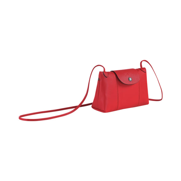 Le Pliage Cuir Crossbody Bag Red