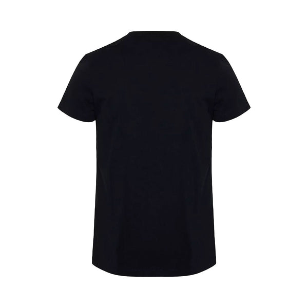 Cotton T-Shirt With White Velvet Balmain Paris Logo Black
