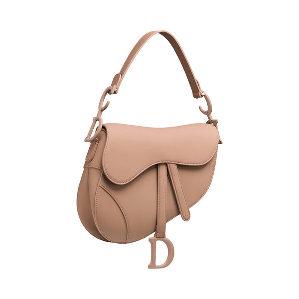 Ultramatte Calfskin Saddle Bag Blush