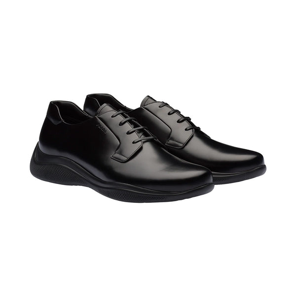 Toblach Brushed Leather Sneakers Black