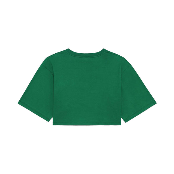 Cropped Logo T-Shirt Green Wom