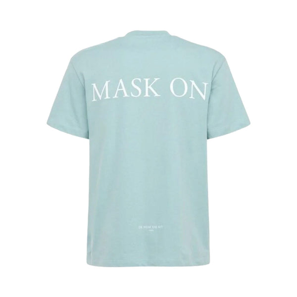 T-Shirt Mask on Painted Turquoise