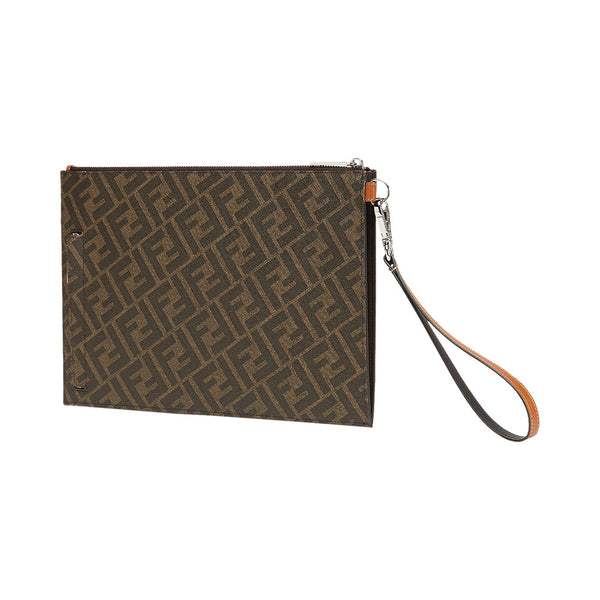 Clutch FF Stripe Brown
