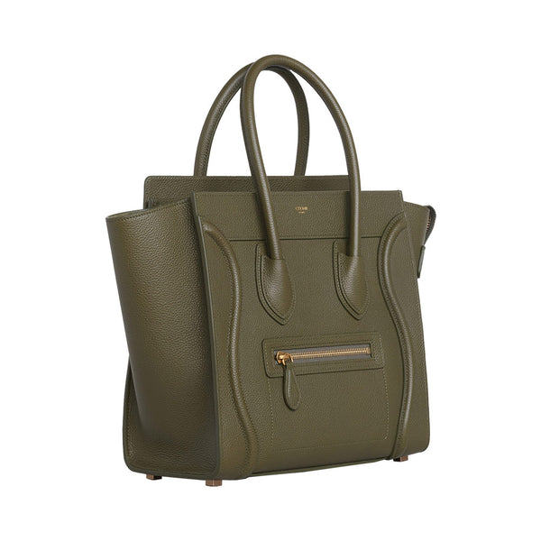 Nano Luggage Dark Olive Grained