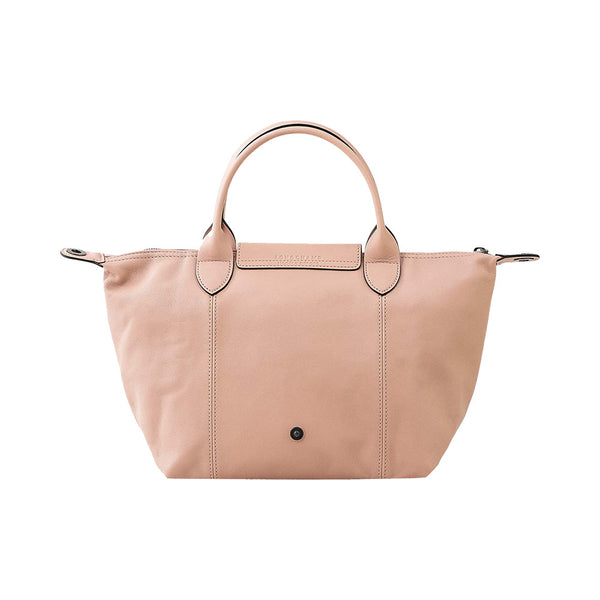 Le Pliage Cuir Top Handle Small Light Pink