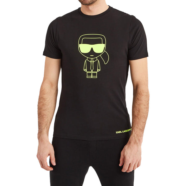 T-Shirt Ikonik Green Outline - Black Man