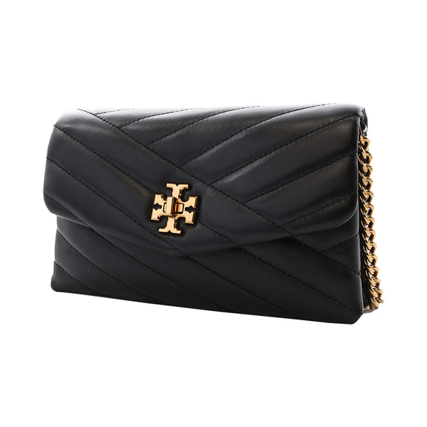 Kira Chevron Chain Wallet Black
