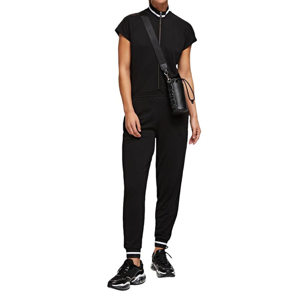 Short-Sleeved Jumpsuit Black