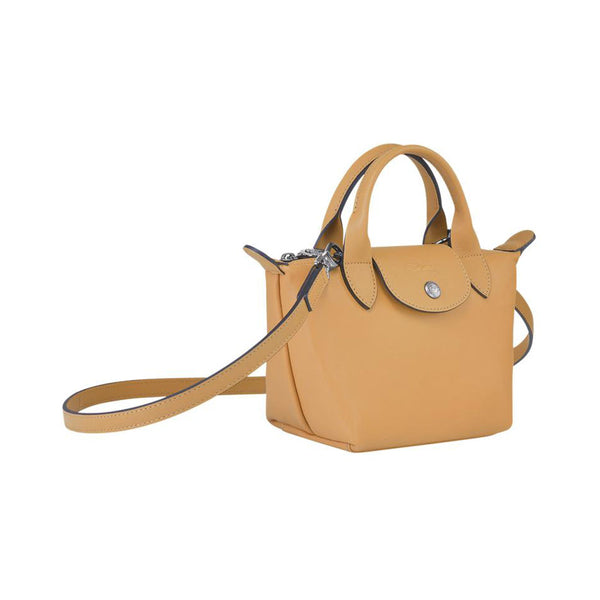 Le Pliage Cuir Mini Top Handle Honey