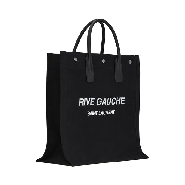 Rive Gauche Cotton Shopping Bag Black