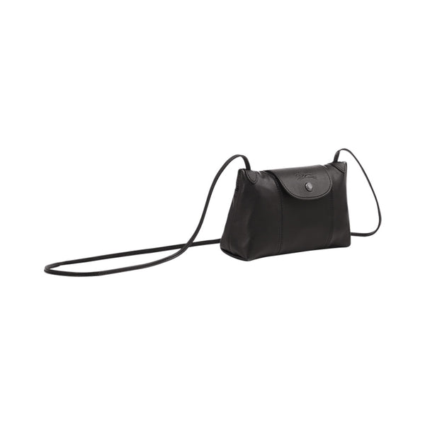 Le Pliage Cuir Crossbody Bag Black