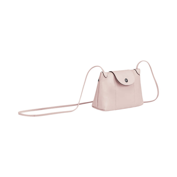 Le Pliage Cuir Crossbody Bag Pale Pink
