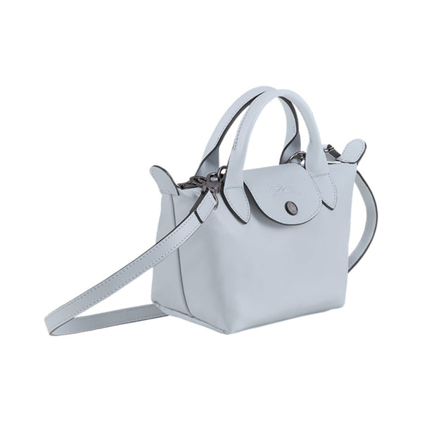 Le Pliage Cuir Top Handle Bag XS Sky Blue