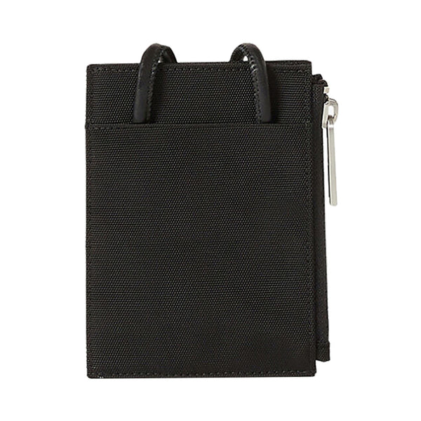 Canvas Kampus Tiger Card Holder with Long Strap Black