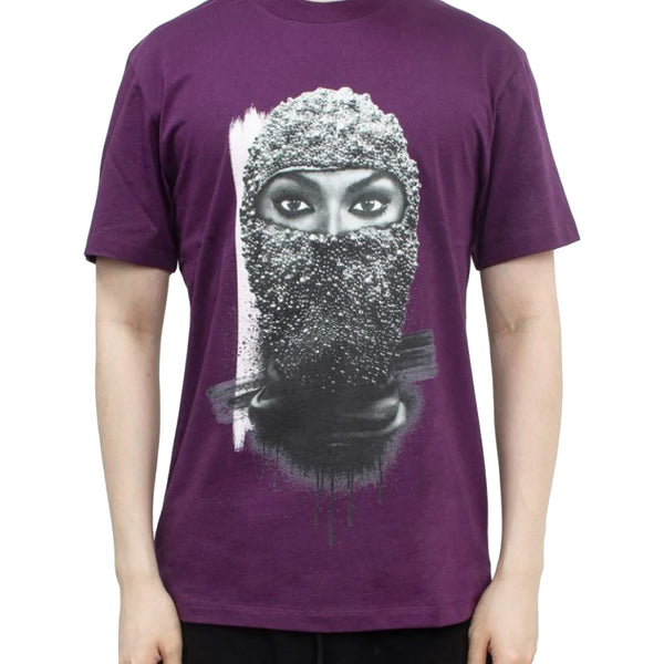 T-Shirt Black Pearl Mask - Purple