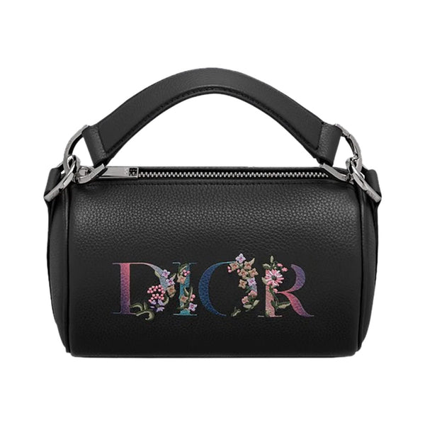 Flowers Signature Mini Roller Messenger Bag Black Grained