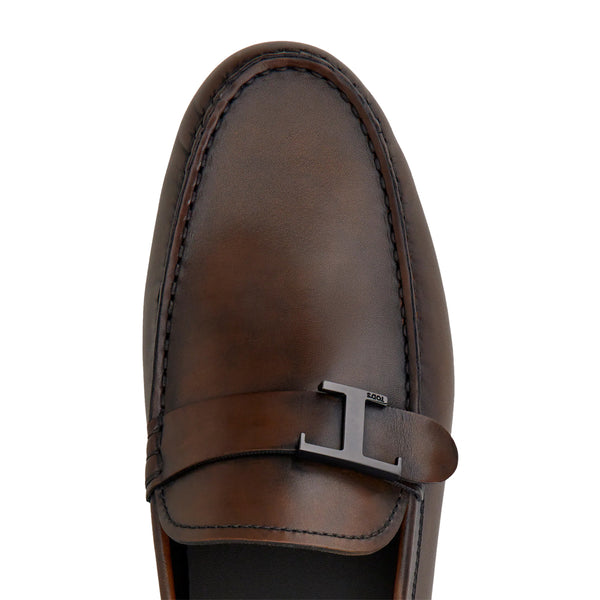 City Gommino in Leather Brown