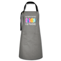 Go Away I'm Painting Artist's Apron - gray/black