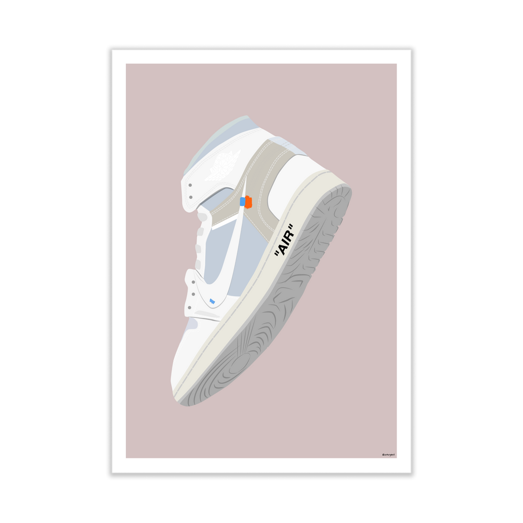 Off-White Air Jordan 1 'NRG' Sneaker Print