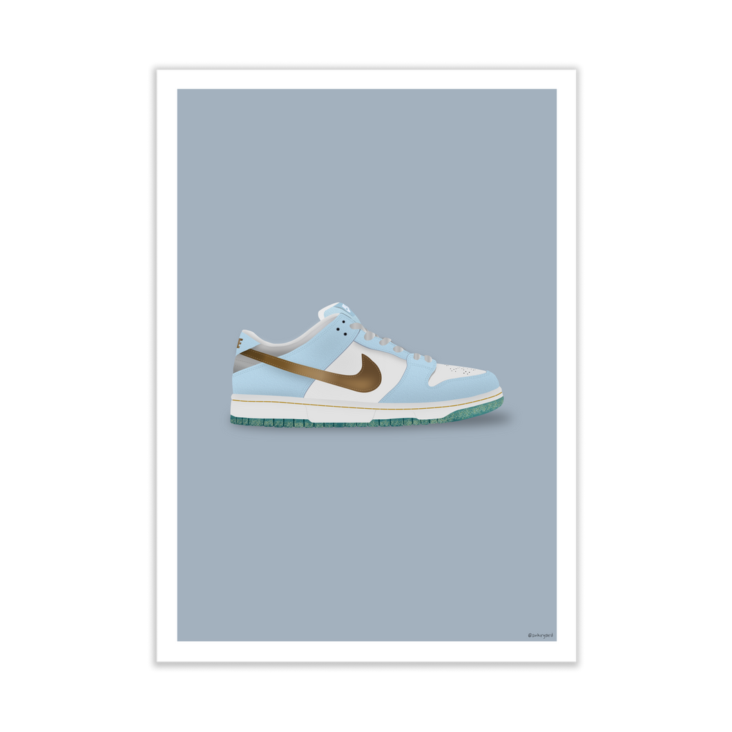 Nike SB Dunk Low 'Sean Cliver' Silhouette Sneaker Print