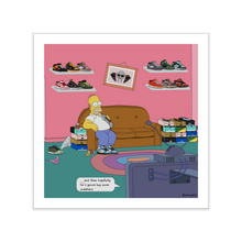 Load image into Gallery viewer, Homer Dunks Sneaker Print